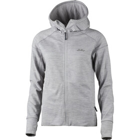 Lundhags Ullto Merino Hættetrøje Damer, light grey
